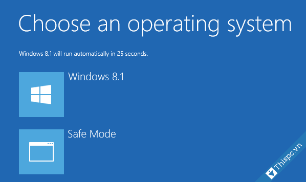 Hien thi menu boot safe mode tren windows 10