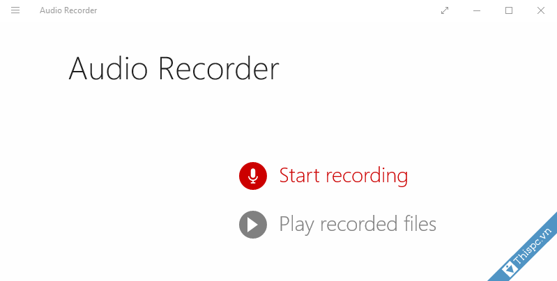 Ghi am giong noi voi audio recorder