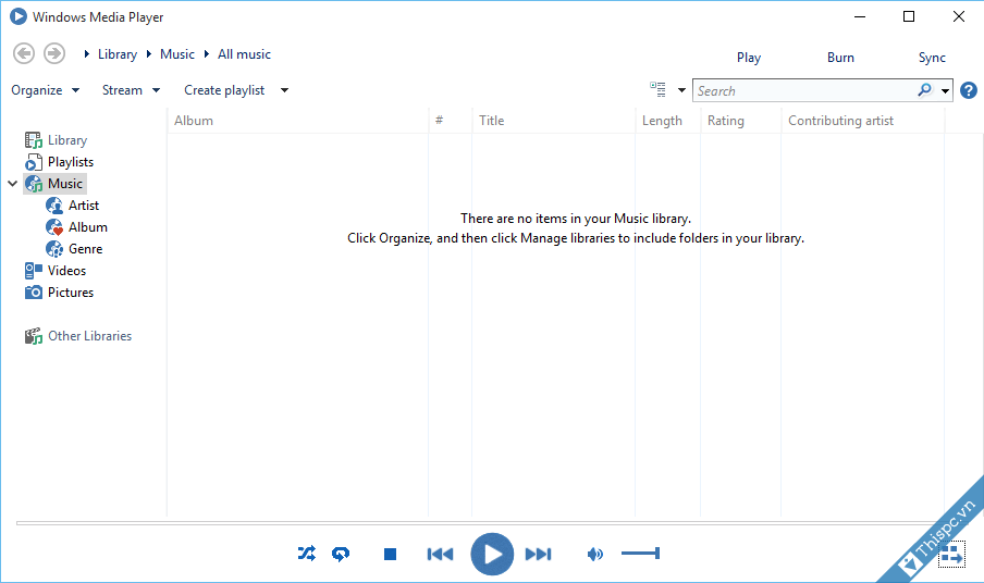 Tao windows media player giao dien phang