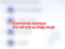 Xoá mũi tên Shortcut với Windows Shortcut Arrow Editor