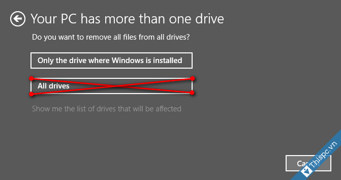 Lam moi lai windows 10 remove everything